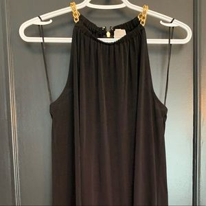 Black Michael Kors dress with gold accents